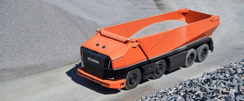 El nuevo prototipo de camión de Scania  es autónomo y se impulsa con biocombustible