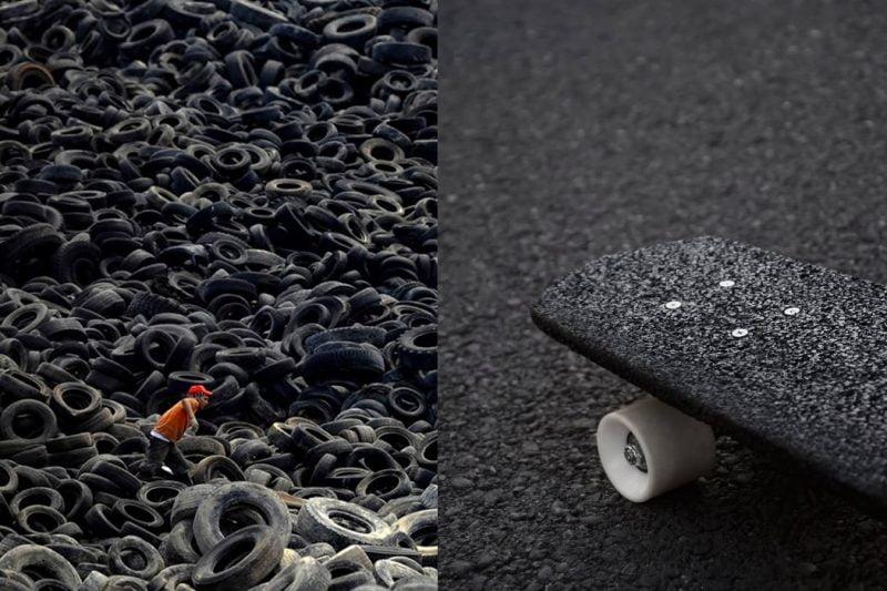 Frammento, el fabuloso skate elaborado con neumáticos reciclados