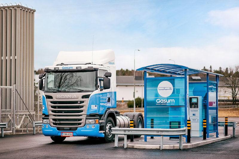 El uso de gas natural licuado renovable crece en el transporte nórdico
