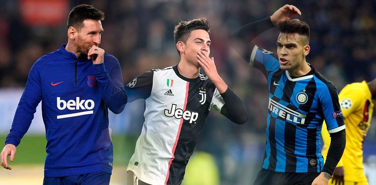 Messi, Dybala y Lautaro Martinez