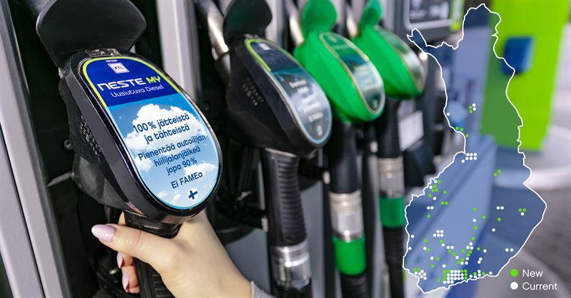 51 nuevas estaciones de servicio de Finlandia ofrecerán diesel renovable