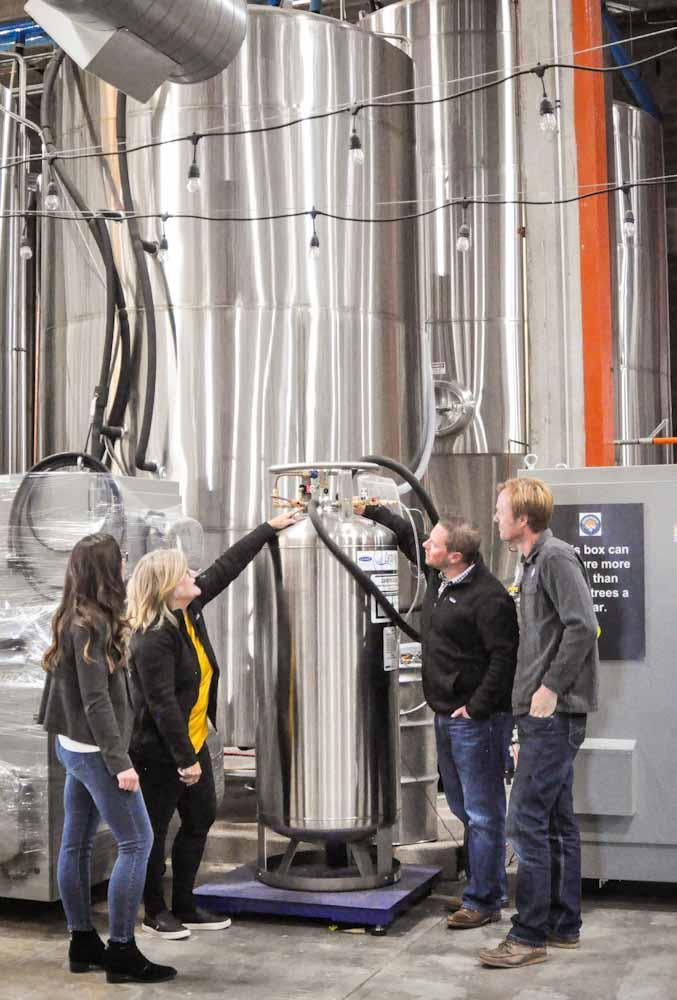 Las cervecerías artesanales convierten el CO2 en oro `gaseoso´