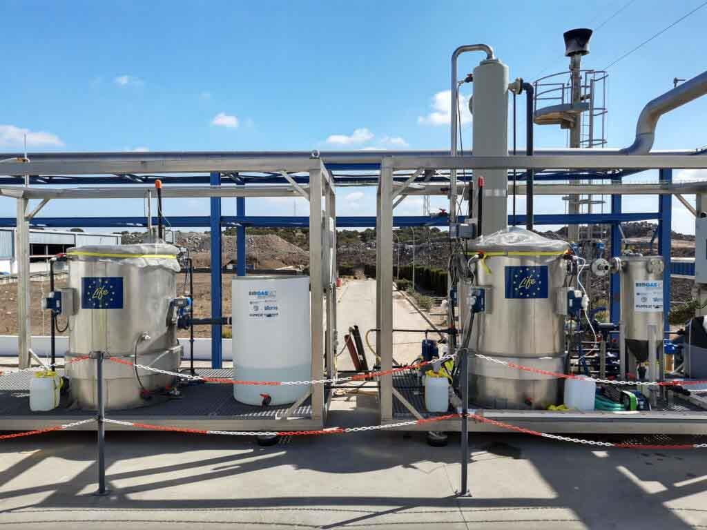 Ponen a prueba revolucionaria tecnología de purificación biológica de biogás