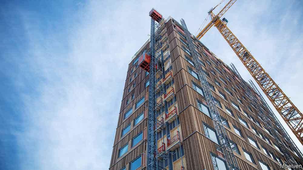 Ciudades sostenibles con rascacielos de madera