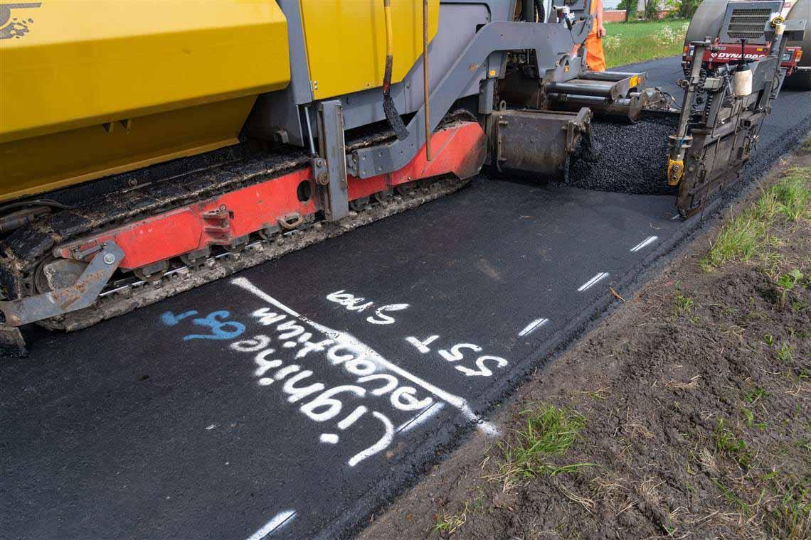 Comenzó en Holanda la construcción de la primera carretera pavimentada con bioasfalto