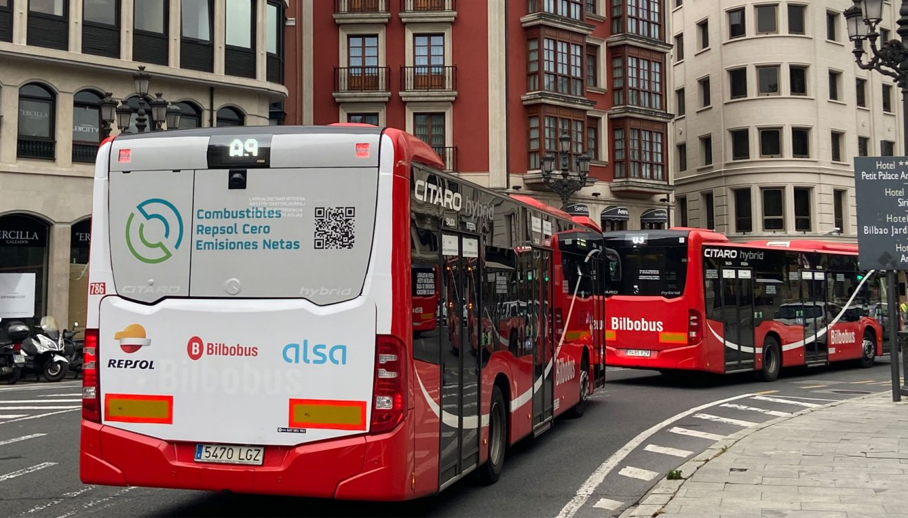 Buses de la ciudad de Bilbao utilizarán biocombustible provisto por Repsol